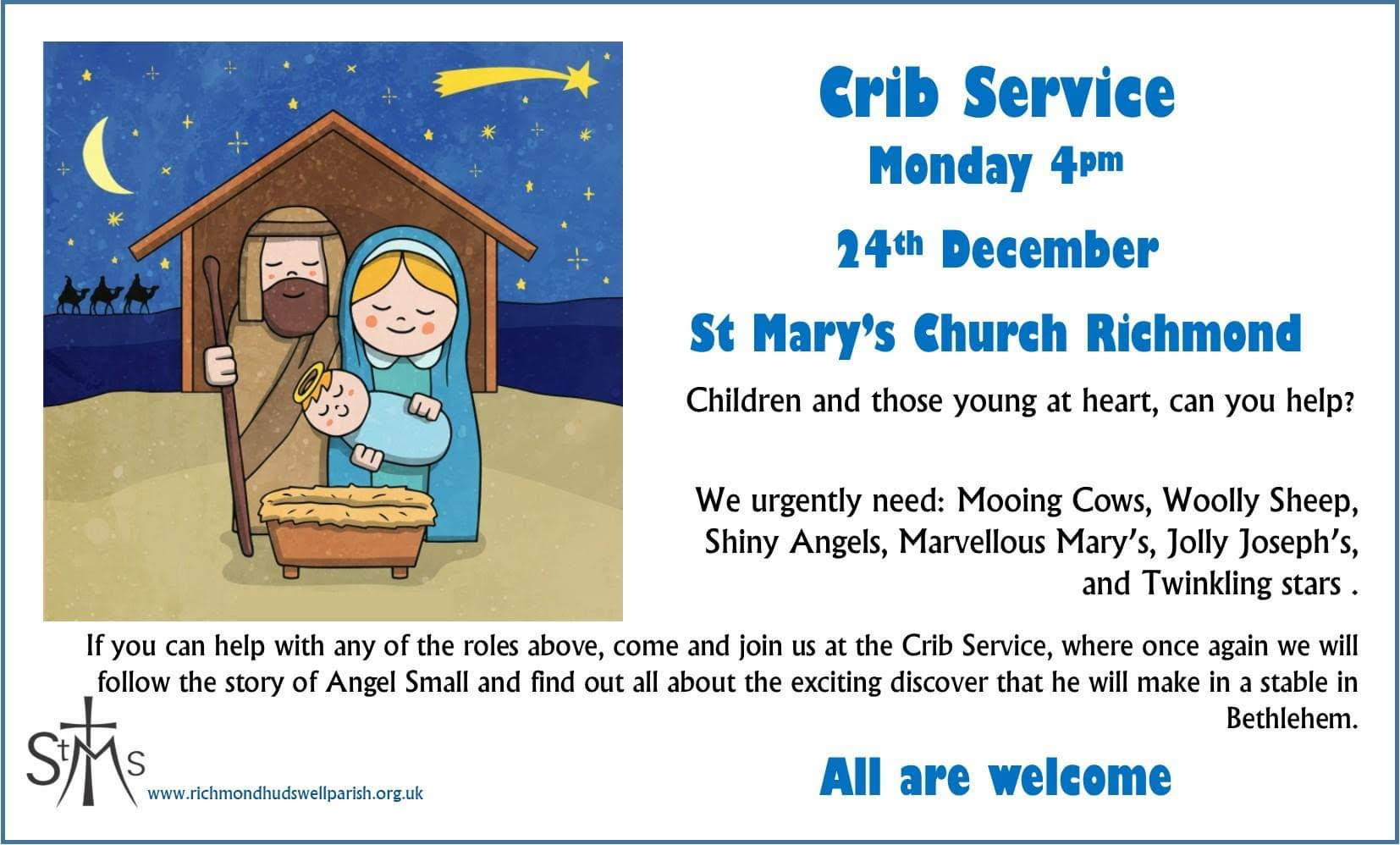 Crib Service at St Mary's